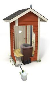 Toilette a compost biolan eco avec bidon pour l urine
