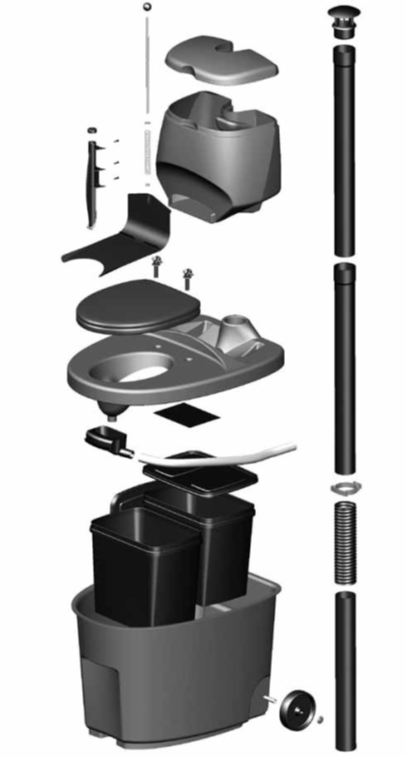 Toilette sèche à séparation des urines BIOLAN