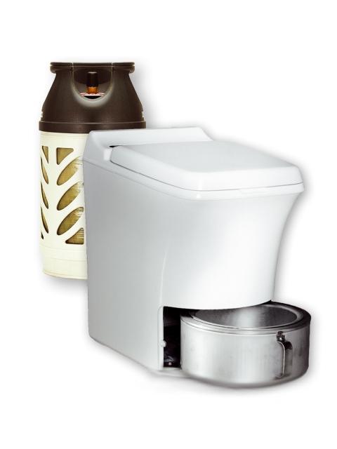 Cinderella gas toilette seche a incineration