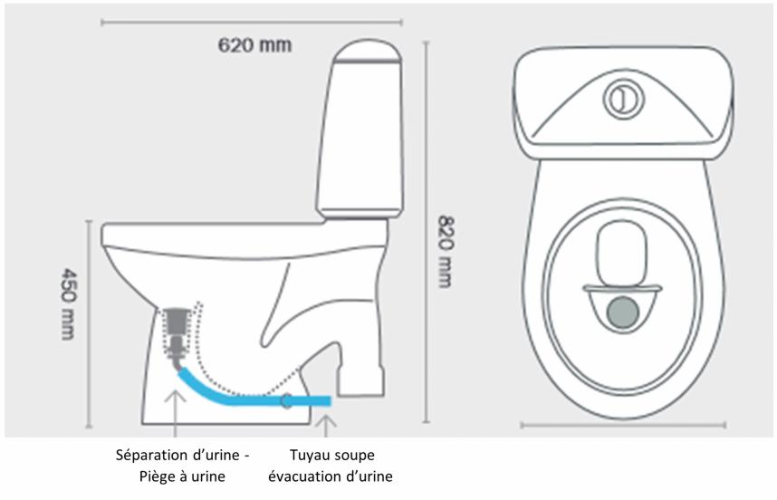 Dimensions de la toilette ecochasse