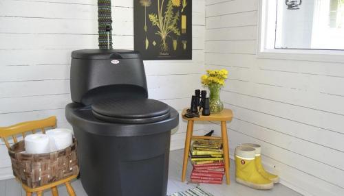 Toilette sèche à séparation des urines BIOLAN noir