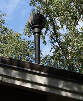 Extracteur eolien biolan installe sur le toit