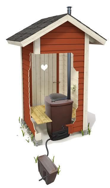 Toilettes écologique avec évacuation du lixiviat