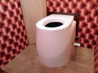 Toilette sèche Ecodomeo, siège Néodyme pose