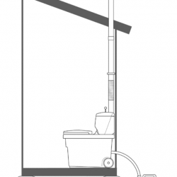 Installation d'une toilette séparative BIOLAN