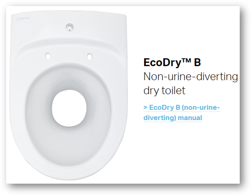 Wostman ecodry b toilettes seches sans separation des urines